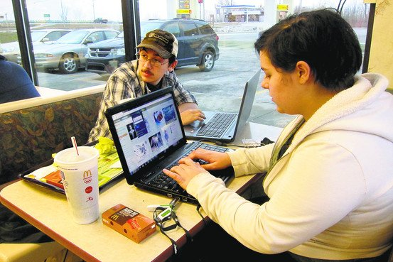 Amber and Corey Dixon at the Pinconning, Mich., McDonald's.