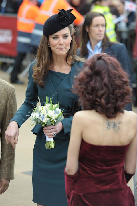 Catherine, Duchess of Cambridge, aka Kate Middleton greets members of the public during a visit to Leicester for the Queen's Diamond Jubilee Leicester, England - 08.03.12 Mandatory Credit: WENN.com