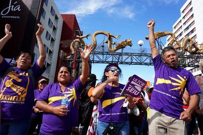 LA's labor unions want an exemption from the city's new $15-an-hour minimum wage