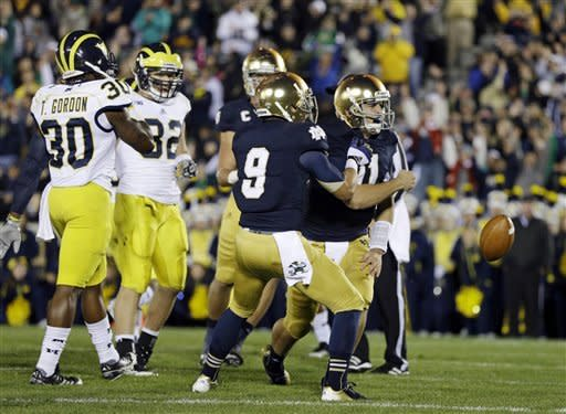 No. 11 ND beats No. 18 Michigan, 13-6