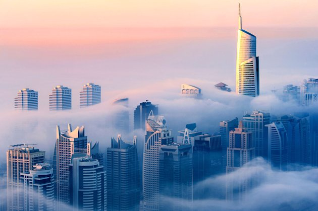 German photographer Sebastian Opitz shot this stunning snap of Dubai (Caters)