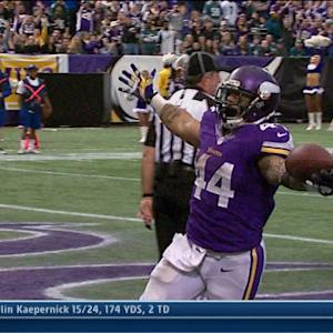 Minnesota Vikings running back Matt Asiata 1-yard touchdown run