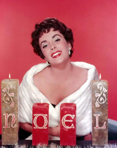 Go glam for the holidays, like Elizabeth Taylor circa 1960 -- Getty Images