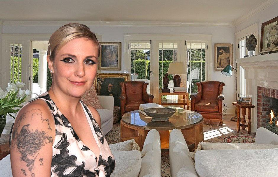 Celebrity Real Estate: Lena Dunham is Buying Breakfast at Tiffany's Star's Adorable House in Hollywood