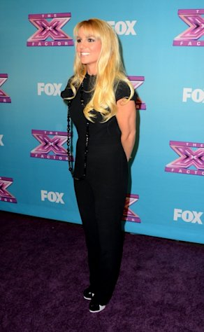 Britney Spears arrives at Fox&#39;s &#39;The X Factor&#39; Season Finale Night 1 at CBS Televison City in Los Angeles on December 19, 2012 -- Getty Images