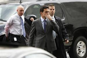 U.S. House Majority Leader Cantor arrives for meetings at the Republican National Committee offices in Washington