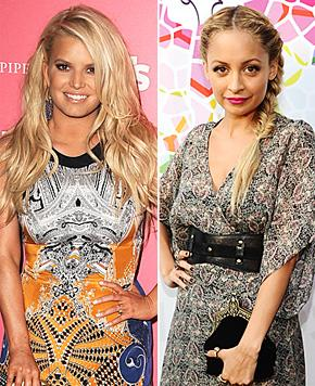 Jessica Simpson, Nicole Richie Bond, Crack Up at Reality Show Taping