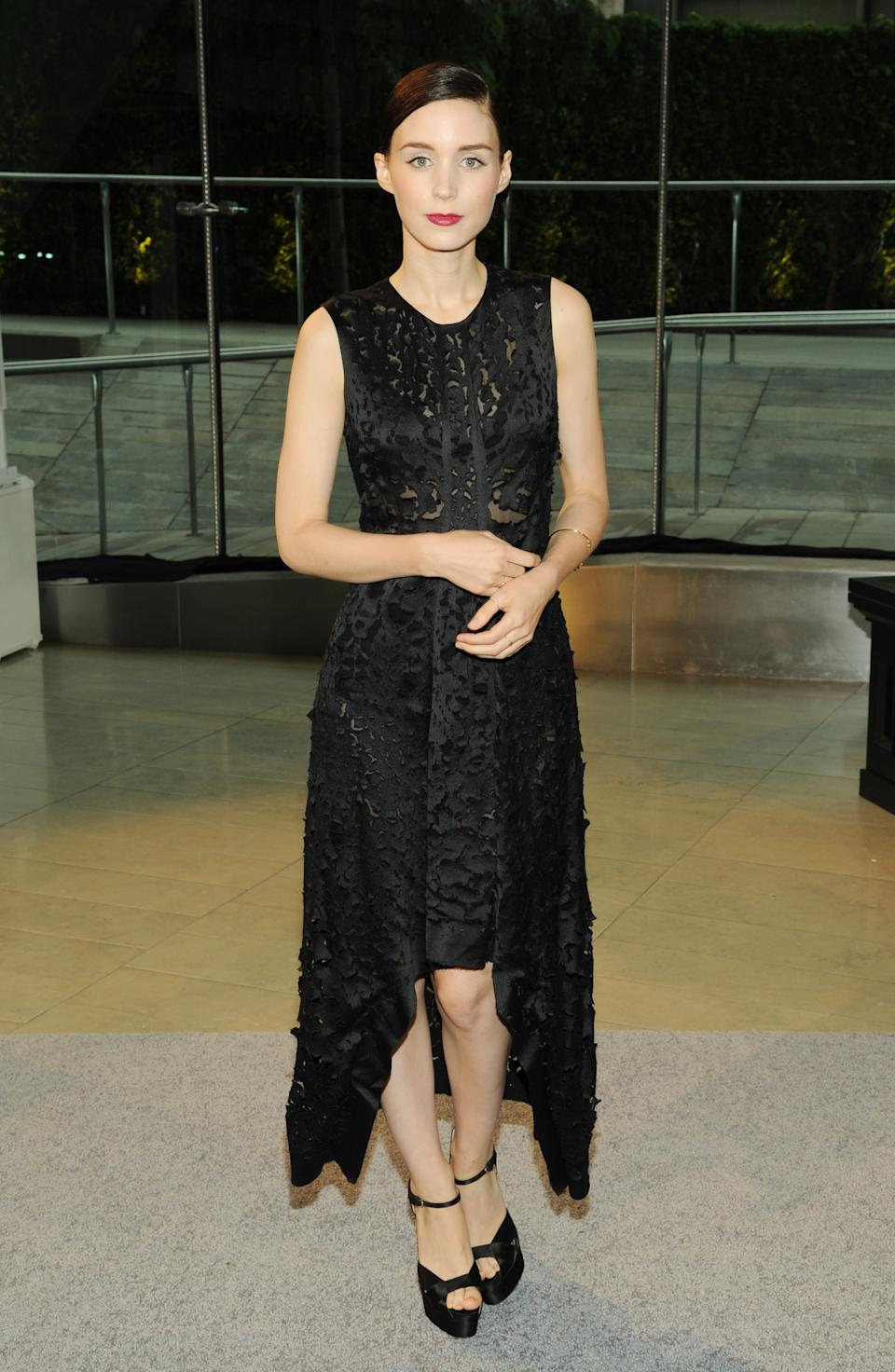 Actress Rooney Mara attends the 2013 CFDA Fashion Awards at Alice Tully Hall on Monday, June 3, 2013 in New York. (Photo by Evan Agostini/Invision/AP)