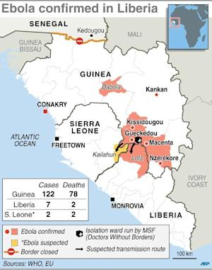 Updated map of West Africa charting the spread of the …