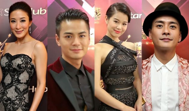 Love blows hot and cold between co-stars at StarHub TVB Awards 2013 (Yahoo photo)