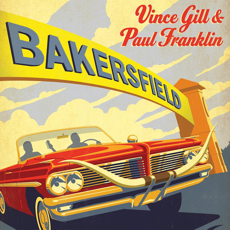 "This CD cover image released by MCA Nashville shows ""Bakersfield,"" by Vince Gill & Paul Franklin. (AP Photo/MCA Nashville)"