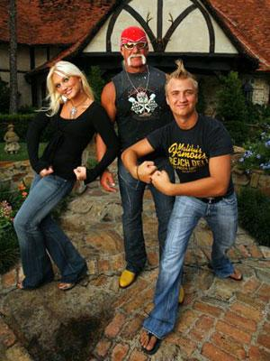 Hulk Hogan with daughter Brooke and son Nick VH1's 'Hogan Knows Best 2'