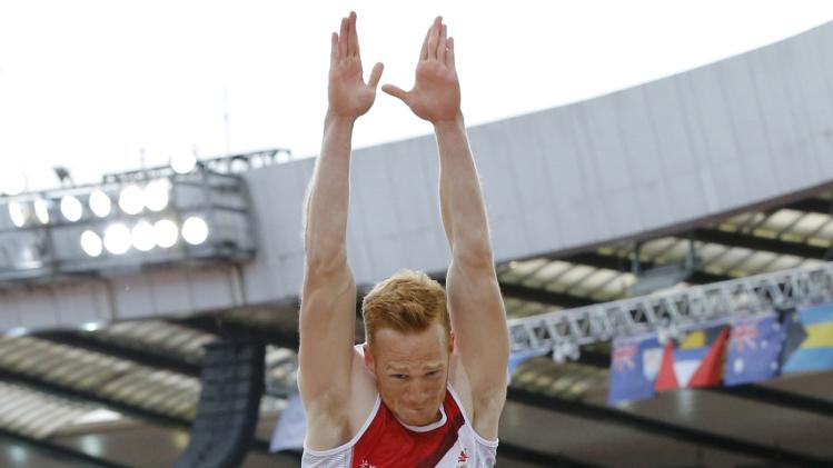 Rutherford of England competes in the Men's Long Jump final at the 2014 Commonwealth Games in Glasgow