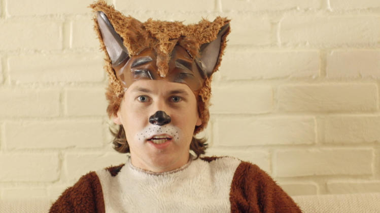 "This image released by TVNorge/Concorde shows Bard Ylvisaker, who along with his brother, Vegard Ylvisaker, are known as Ylvis (ILL-vis), as he sings the opening lyric ""What Does the Fox Say?"". The funny brothers elevated the woodland creature in their video, ""The Fox (What Does the Fox Say?)"" in early September and have scored more than 150 million YouTube views of them prancing in fox suits singing: ""Ring-ding-ding-ding-dingeringeding! Gering-ding-ding-ding-dingeringeding!"" (AP Photo/TVNorge/Concorde)"