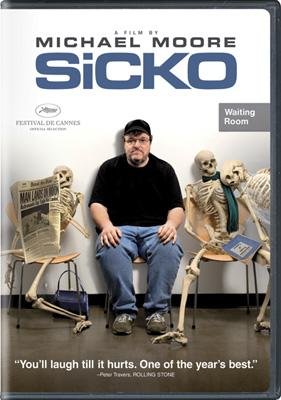 DVD box art for The Weinstein Company's Sicko