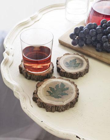 Tree-Branch Coasters