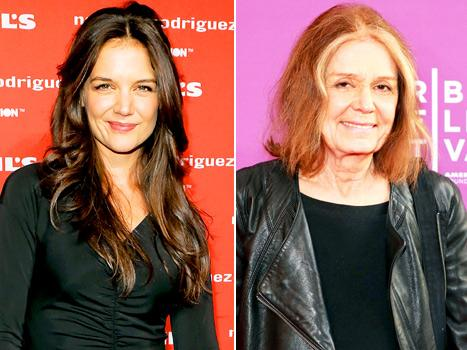 Katie Holmes, Gloria Steinem Have Dinner Together in NYC