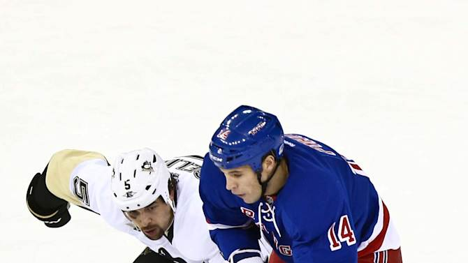 NHL: Pittsburgh Penguins at New York Rangers