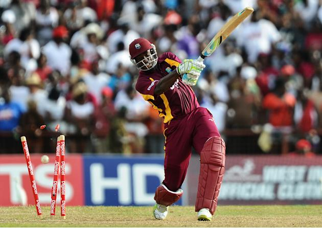 The wicket of West Indies cricketer Andr