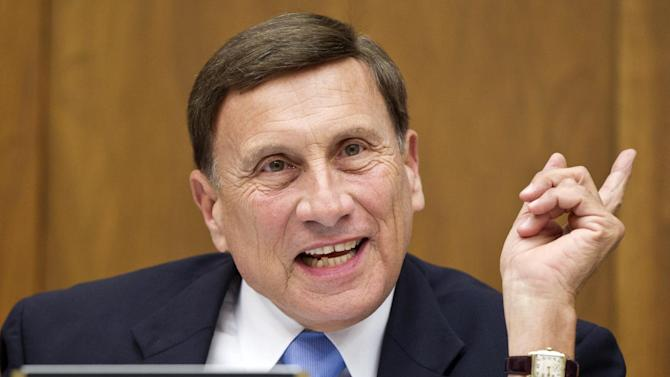 FILE - In this April 17, 2012, file photo, House Transportation Committee Chairman Rep. John Mica, R-Fla. speaks on Capitol Hill in Washington. Congress on Friday, June 29, 2012 emphatically approved legislation preserving jobs on transportation projects from coast to coast and avoiding interest rate increases on new loans to millions of college students, giving lawmakers campaign-season bragging rights on what may be their biggest economic achievement before the November elections.  (AP Photo/J. Scott Applewhite, File)