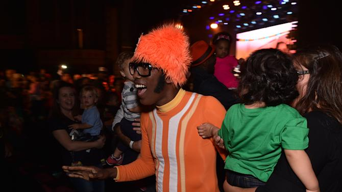 DJ Lance Rock is seen in the audience at Yo Gabba Gabba! LIVE! Music Is Awesome! at the Shrine Auditorium on Saturday November 22, 2014, in Los Angeles. (Photo by John Shearer/Invision for DHX Media/AP Images)