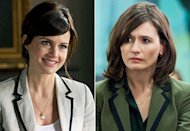 Carla Gugino, Emily Mortimer | Photo Credits: David Giesbrecht/USA Network, Melissa Moseley/HBO