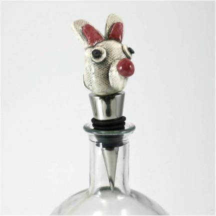 Easter Bunny Bottle Stopper