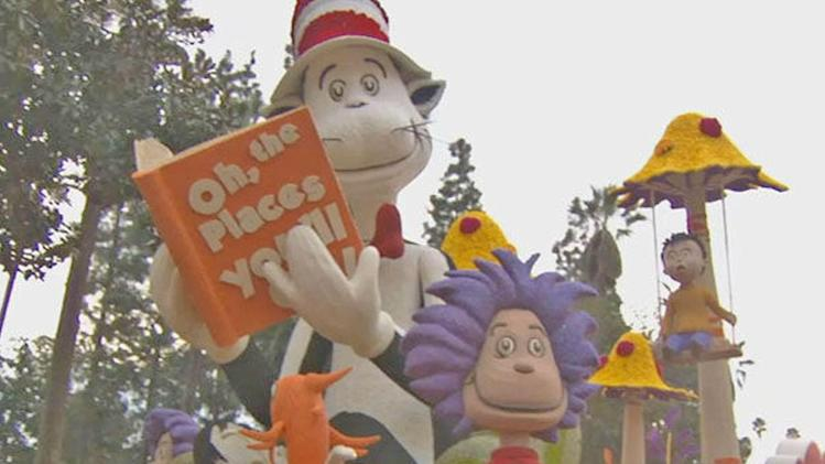Rose Parade floats on display in Pasadena