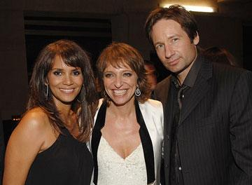 Halle Berry , director Suzanne Bier and David Duchovny at the Los Angeles premiere of DreamWorks Pictures' Things We Lost in the Fire