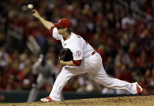 Cardinals' Miller retires 27 straight in 1-hitter