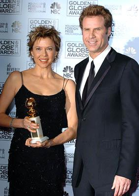 Annette Bening of Being Julia with Will Ferrell Best Actress in a Motion Picture Musical or Comedy Golden Globe Awards - 1/16/2005