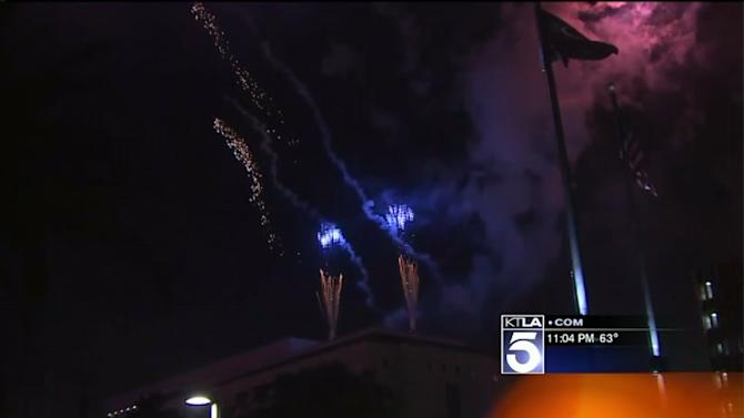 Angelenos Flock to Grand Park for Independence Day Celebration