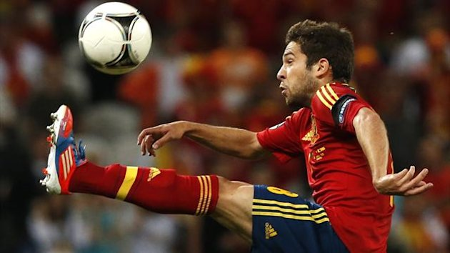 Jordi Alba in action for Spain at Euro 2012