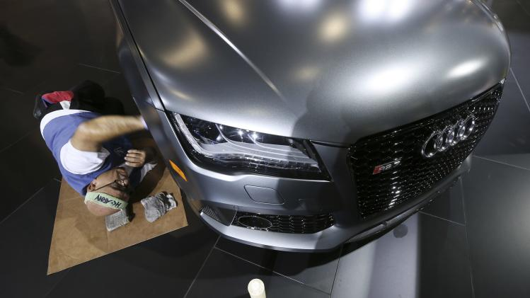File photo of Audi being cleaned before the 2013 Los Angeles Auto Show