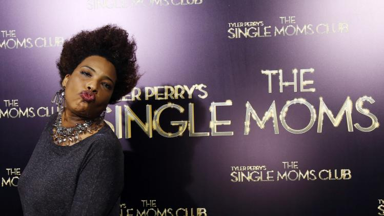 "Singer Gray poses at the premiere of ""The Single Moms Club"" in Los Angeles"