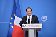 French President Francois Hollande attends a press conference at EU headquarters in Brussels, on February 8, 2013. European Union leaders agreed the first ever cut in the bloc&#39;s budget after all-night talks driven by sharp differences over priorities for the next seven years