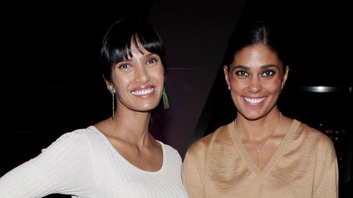 Padma Lakshmi and Rachel Roy attend Made In Italy: A Celebration of Italian Fashion & Style at Hearst Tower on October 14, 2009 in New York City.