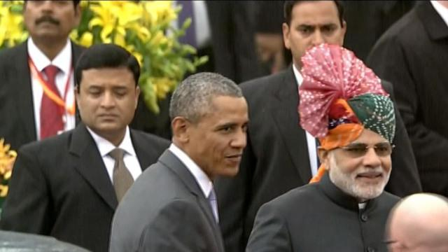 Obama takes in India's grand Republic Day parade