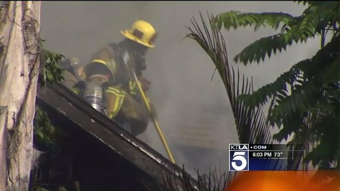 1 Man Dead, 5 Others Injured, Including Firefighter, After Fire Breaks Out in Echo Park Home