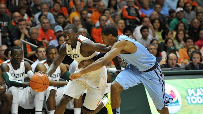 NCAA Basketball: North Carolina at Miami