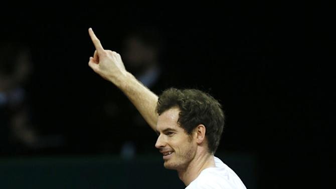 Great Britain's Andy Murray during practice