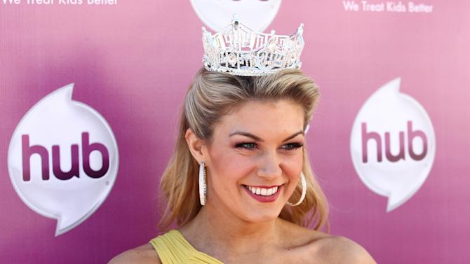 "Miss America 2013 Mallory Hagan attends the The Hub TV Network's ""My Little Pony Friendship is Magic"" Coronation Concert at the Brentwood Theatre on Saturday, Feb. 9, 2013, in Los Angeles in support of Children's Hospital LA. (Photo by Matt Sayles/Invision for The Hub/AP Images)"