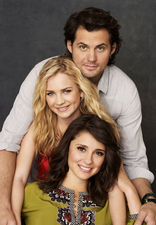 Kristoffer Polaha stars as Baze, Britt Robertson stars as Lux, and Shiri Appleby stars as Cate on &quot;Life Unexpected.&quot; 
