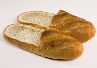 Bread Shoes come in a variety of designs and dough recipes.