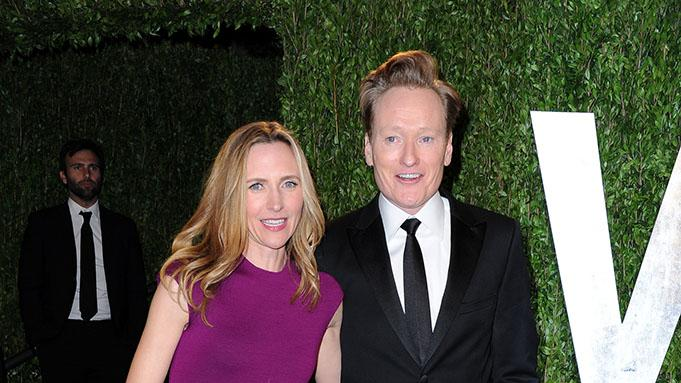 2013 Vanity Fair Oscar Party Hosted By Graydon Carter - Arrivals: Conan O'Brien and Elizabeth Ann Powel