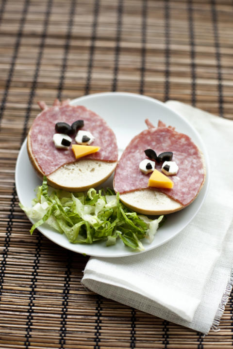 Angry Bird Sandwiches
