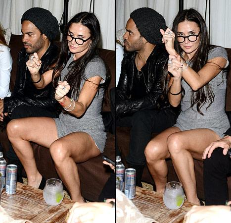 Demi Moore Continues Wild, All-Night Partying in Miami