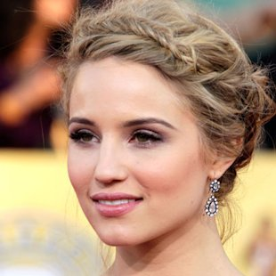 Dianna Agron: Halo Braid Hair Trend