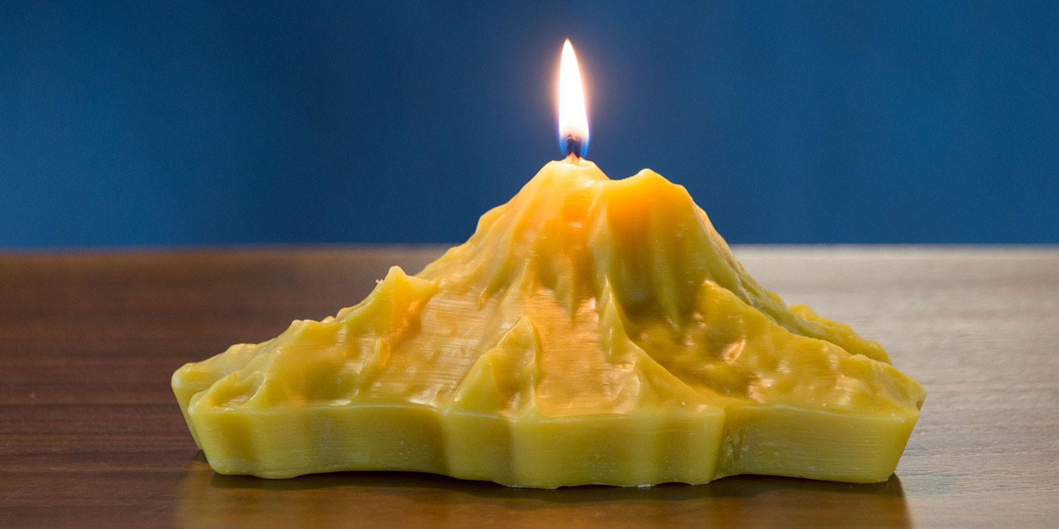 Melting mountains: How lidar and 3D printing helped create incredible candles