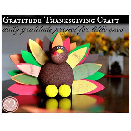 Daily Gratitude Turkey for Toddlers